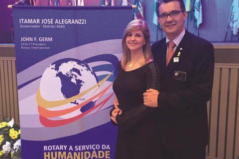 Itamar José Alegranzzi e Neisa Ceretta alegranzzi casal Governador do Distrito 4660 2016/2017