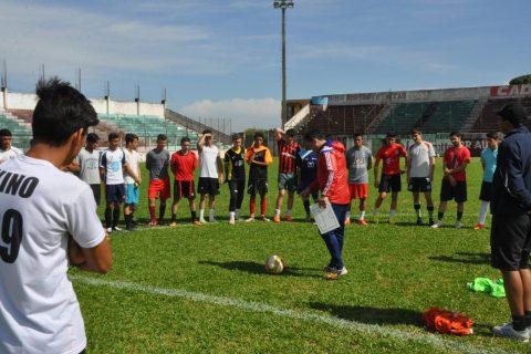 Seleção de jogadores para a equipe profissional e categorias de base está sendo comandada pelo treinador Jorge  Maiben Castro