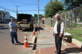 Pedro Nunes da Silva, síndico de um bloco de 16 apartamentos, acompnha as obras de restaurção do passeio público