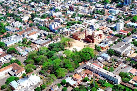 Foto aérea de Santo Ângelo nas lentes de Fernando Gomes
