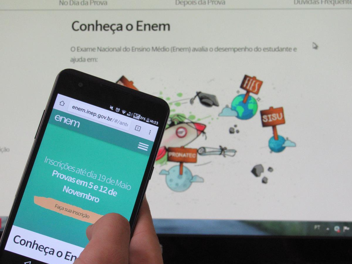 Inscrições podem ser feitas no site: http://enem.inep.gov.br