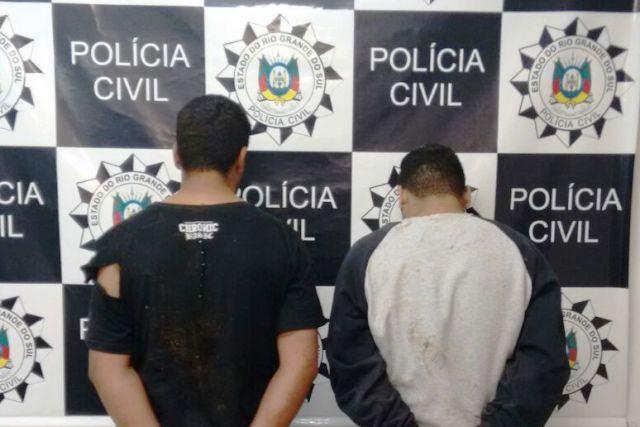 duas pessoas foram presas pela Policia Civil em Santo Ângelo