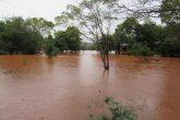 Construções de lazer, próximos da margem já foram invadidas pela água do Rio Ijuí