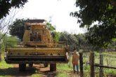 Leandro Joel Stochero se prepara para colheita de azevem para fazer feno