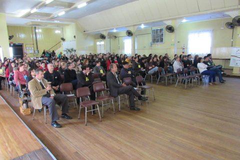 A conferência foi realizada na sede social do Clube Comercial