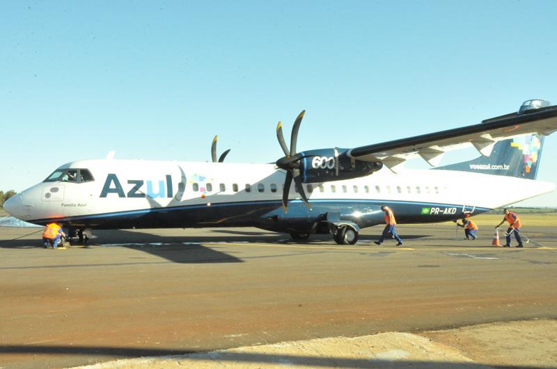 Azul iniciou operações aéreas no Aeroporto Regional Sepé Tiaraju no dia 3 de julho