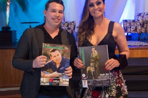 Thiago Prado e Nadir Vier, são capas da 47ª  edição da Revista O Mensageiro
