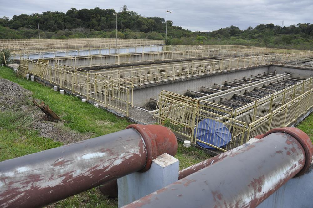 Estação de Tratamento Índia Lindóia em Santo Ângelo. Módulos estão ociosos e ela opera com apenas 30% de sua capacidade