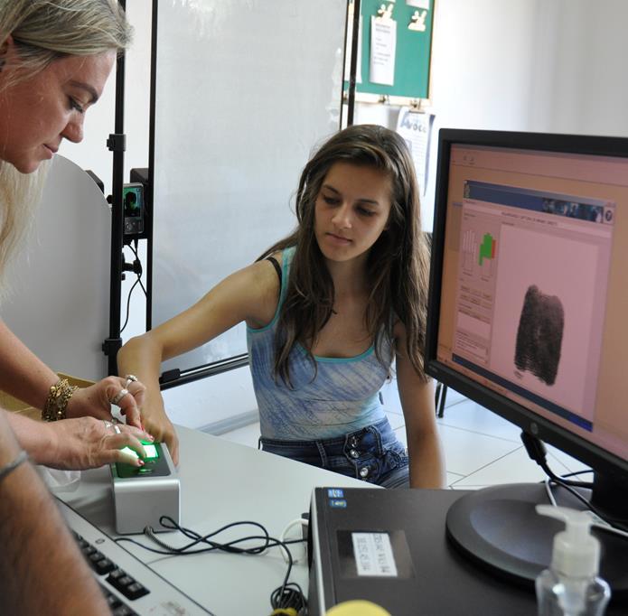 Processo de cadastramento biométrico