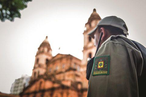 Brigada Militar e Catedral