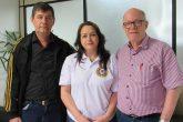 Paulo Kuck, Letícia Schüller de Paula e Nelson Seidler divulgam as atividades locais