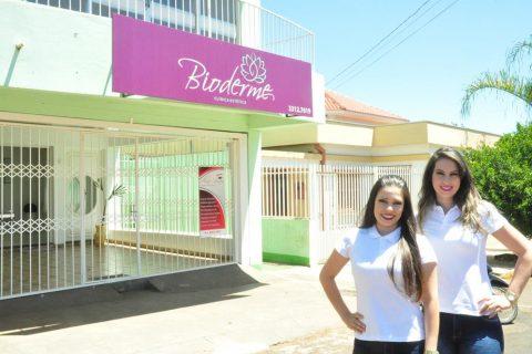 Bioderme é comandada pela Biomédica Esteta, Taíse Amado e fisioterapeuta Claudiane Cavalli