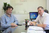 Deputado Federal Cajar Nardes (Podemos) e o empresário Arlindo Diel