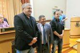 Nova mesa diretora é composta por vereador Pedro Waszkiewicz (secretário da Mesa), Everaldo de Oliveira (Presidente) e Ademir Queiroz (vice-presidente)