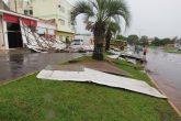 Estragos caudados por um temporais em Santo Ângelo no mês de outubro