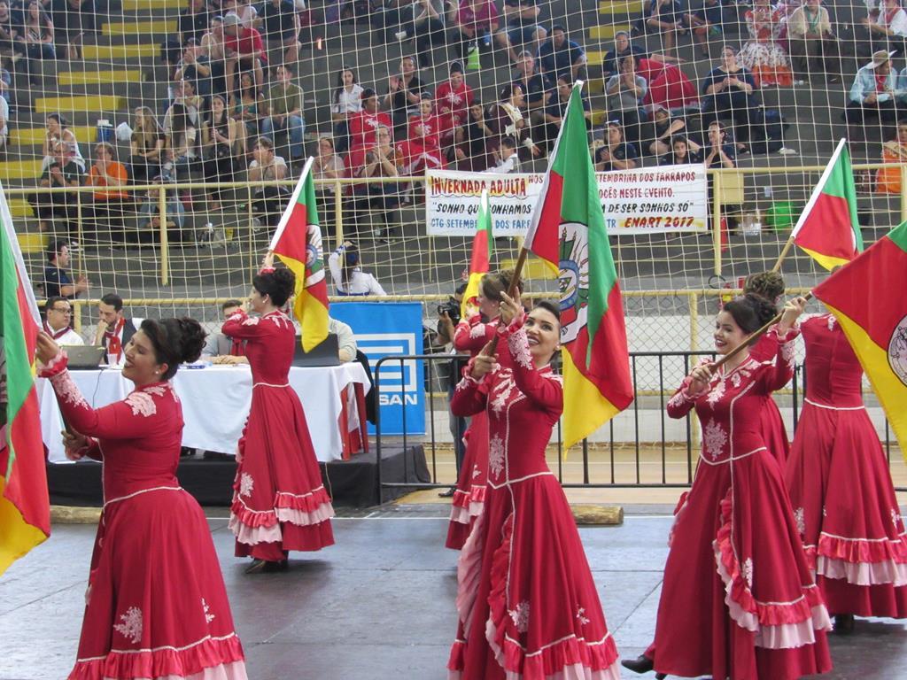 Prendas durante a primeira fase da Inter- Regional do Enart que aconteceu em Santo Ângelo no ano passado