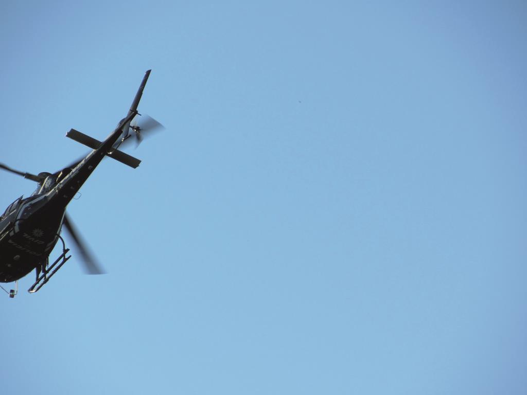 Helicóptero usado na operação Tersus em Santo Ângelo e região. Foto: Marcos Demeneghi