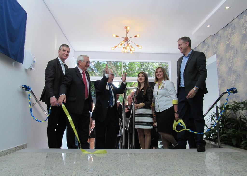 HSA - Inauguração da revitalização da recepção com verba do Lions