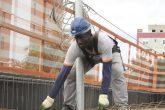 Imigrante Haitiano empregado na construção civil em Santo Ângelo