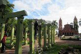 Restauração das Pérgolas da Praça da Catedral - Início