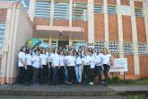 Foto - Marcos Demeneghi - Equipe da 14ª CRE em frente a sede localizada em Santo Ângelo