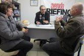 Julio Mattos e Mana Câmara divulgam o evento nos veículos de Comunicação. No Mensageiro foram recebidos por Amauri Lírio