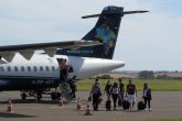 Desembarque no Aeroporto Regional Sepé Tiaraju - Foto: Marcos Demeneghi