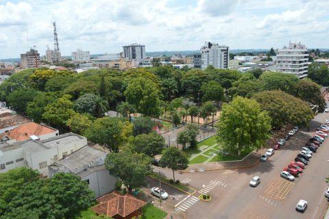 Praça Ricardo Leônidas Ribas - Santo Ângelo. Foto: Michael Garcia