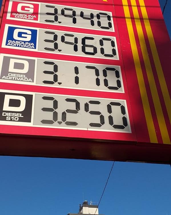 Preço praticado em Santa Rosa