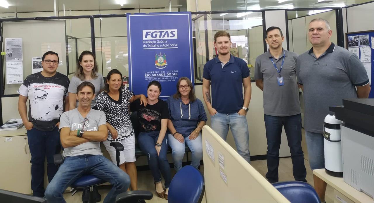 Equipe da agência FGTAS/SINE de Santo Ângelo