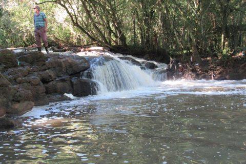 Queda d'água no Arroio Intaquarinchim, interior de Santo Ângelo - Foto Marcos Demeneghi