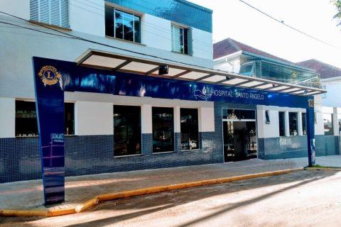 Hospital Santo Ângelo, localizado na Rua Antônio Manoel