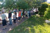 Posto da Rua 22 de Março - Idosos na fila para campanha de vacinação