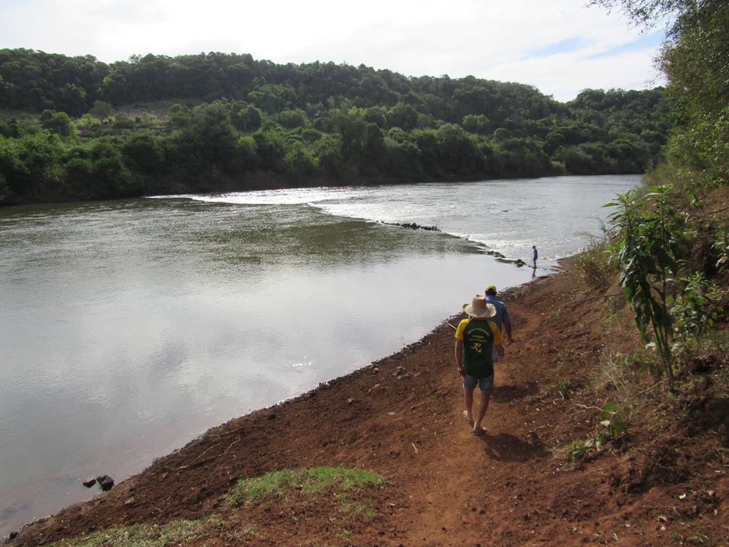 Foto - Marcos Demeneghi - Rio Ijuí quando passa pela zona rural de Santo Ângelo em Linha Sabiá