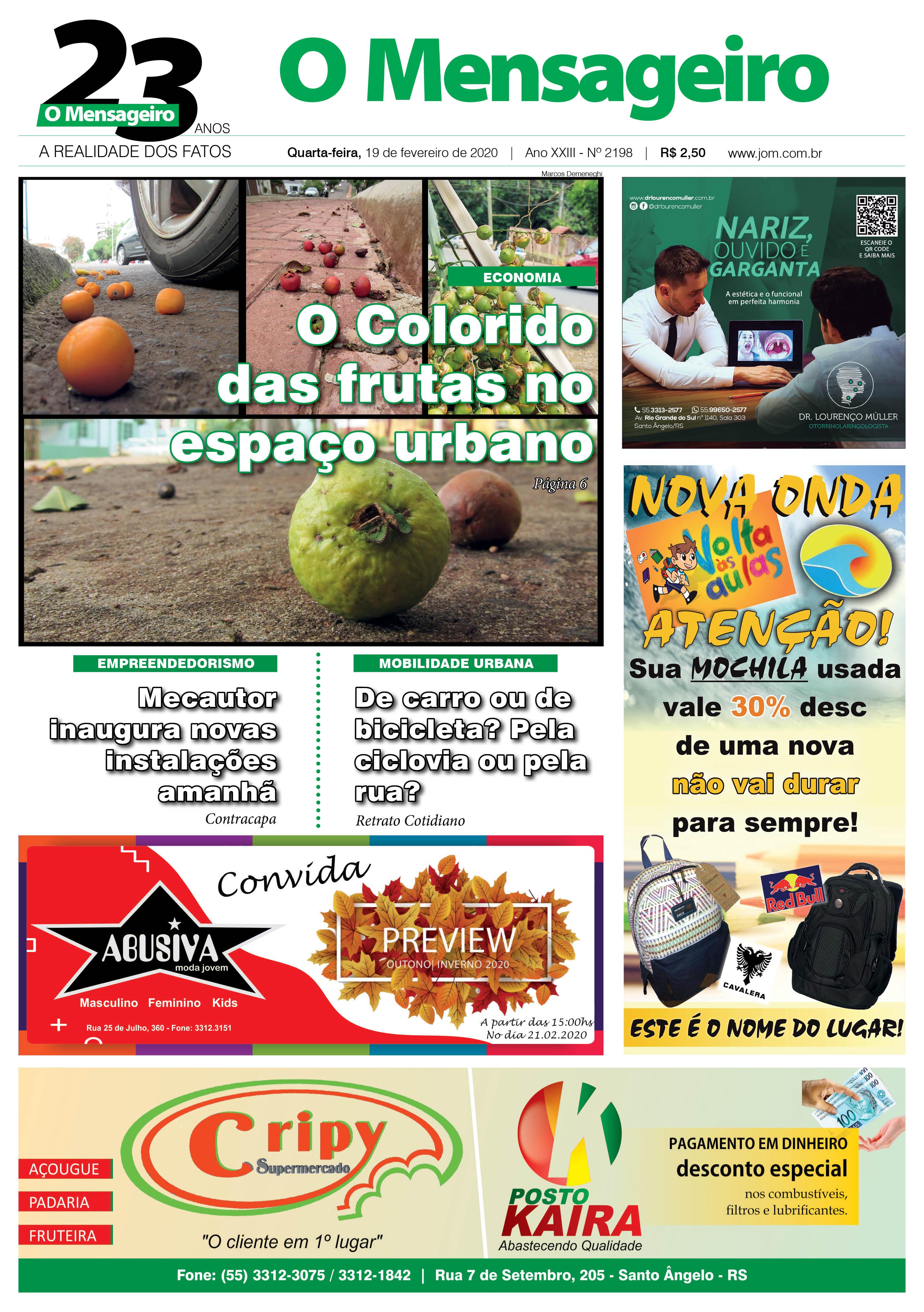 Jornal O Mensageiro - 19/02/2020