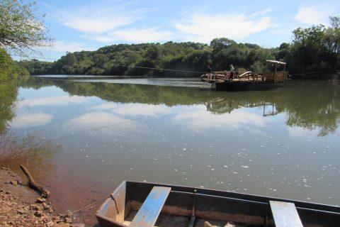Barca dos Gabriel no Rio Ijuí divisa de Santo Ângelo e Entre-Ijuís