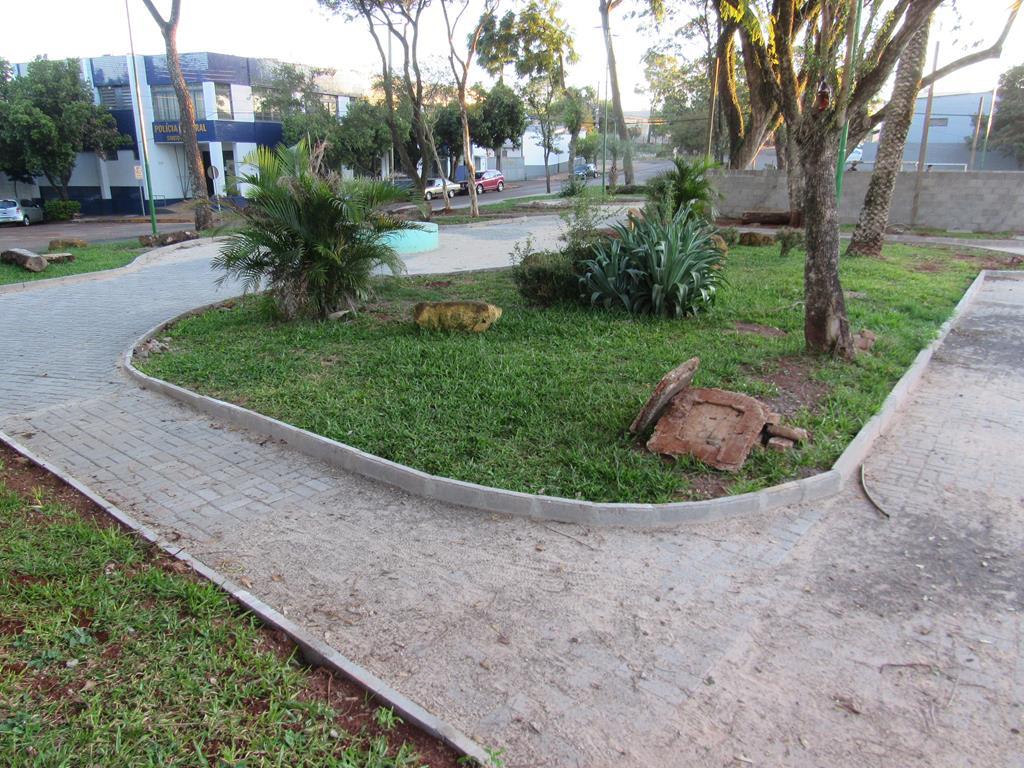 Praça Dário Beltrão em Santo Ângelo está em obras - Foto Marcos Demeneghi