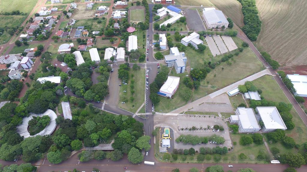 URI - Universidade Regional Integrada do Alto Uruguai e Missões, vista aérea do campus de Santo Ângelo