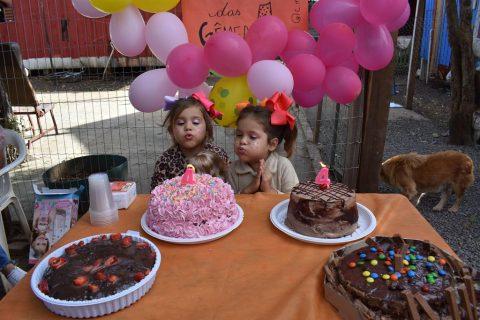 Festa de aniversário surpresa para crianças visitadas pelos jovens