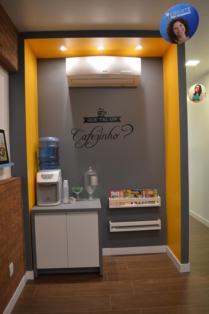 Um dos espaços internos da Odontoclinic de Santo Ângelo