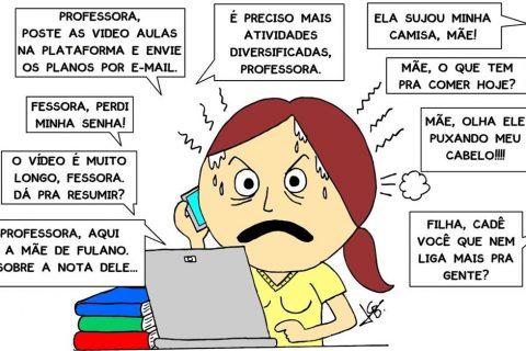 A Ilustração é de Jaime Guimarães educador de profissão e ilustrador e escritor nas horas vagas