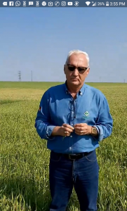 Presidente do sindicato Rural de Santo Ângelo, Sr. Laurindo Nikititz - Imagem: Reprodução de vídeo divulgado nas redes sociais