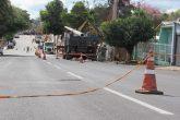 Operação de troca de postes da rede elétrica na Rua Marquês do Herval