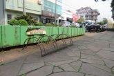 Estacionamento de bicicleta no calçadão da Rua 25 de Julho em Santo Ângelo - Foto - Marcos Demeneghi