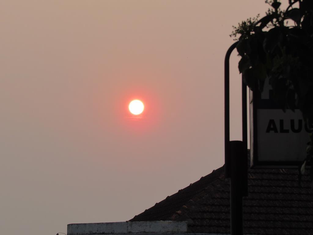 Imagem do sol em setembro de 2020 - Vista de Santo Ângelo RS (17h) - Foto Marcos Demeneghi
