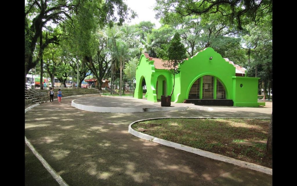 Praça Ricardo Leônidas Ribas em Santo Ângelo - Foto - Marcos Demeneghi