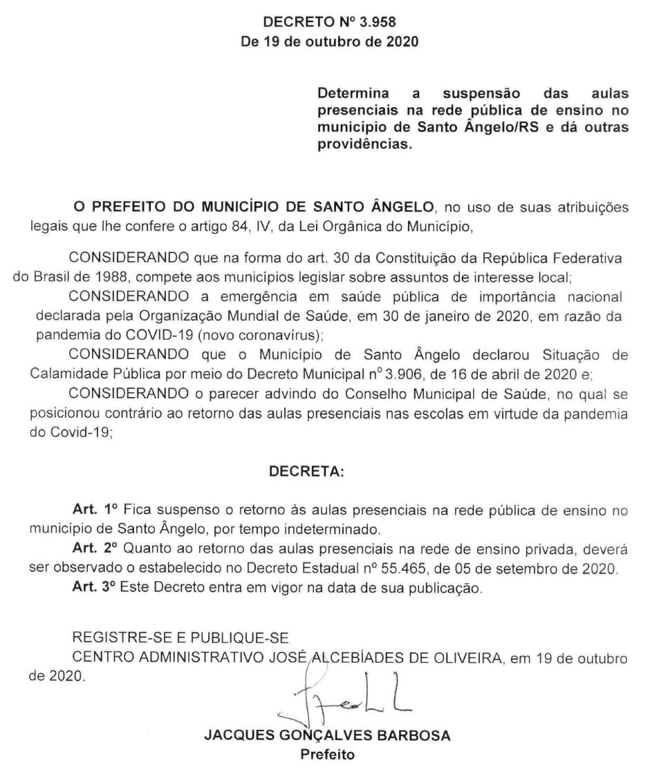 Decreto municipal 3.958
