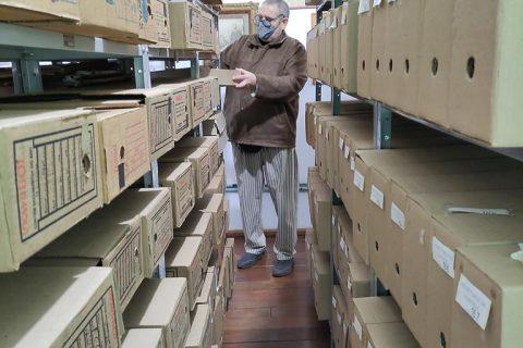 Sala do acervo físico do Arquivo Histórico Municipal