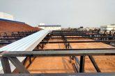 Estrutura metálica da cobertura em Obras no Hospital Santo Ângelo - Foto Fotos: Marilia Machado Munareto